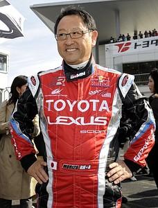 Toyota Motors President Akio Toyoda smil